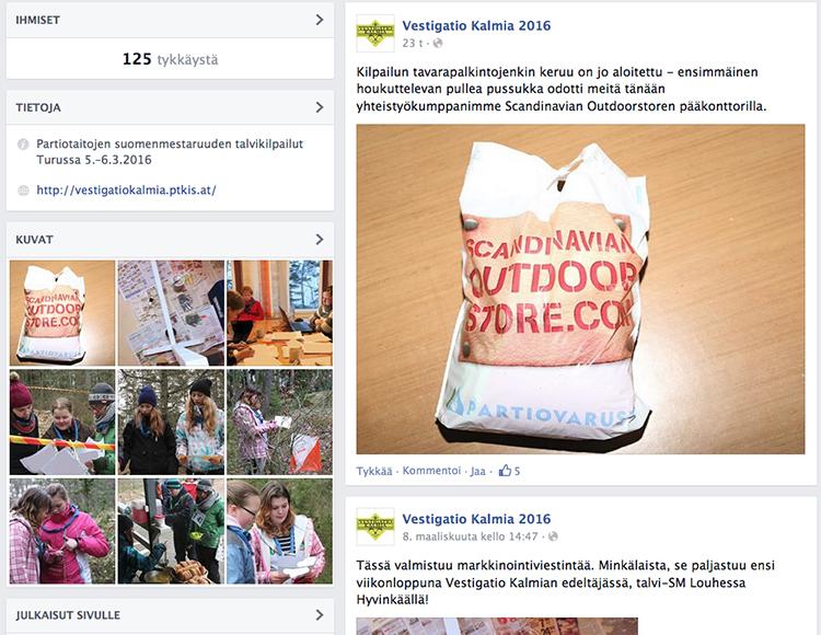 Kuvakaappaus Vestigatio Kalmian Facebook-sivusta.